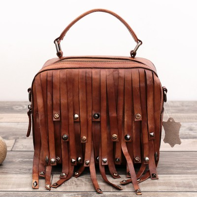 Designer Handbags High Quality Head Layer Cowhide Retro Small Bag Genuine Leather Trunk Totes Tote Vintage Soft  Crossbody Bags