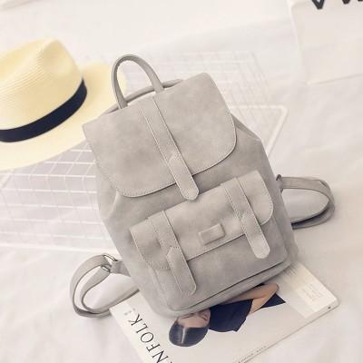 Famous Brand Backpack Women Backpacks Solid Vintage Girls School Bags for Girls Black PU Leather Women Backpack