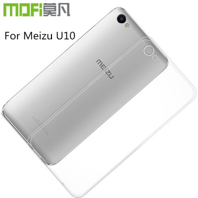 meizu u10 case meilan u10 cover silicon soft tpu back cover mofi original transparent cover thin clear armor accessories 5 inch