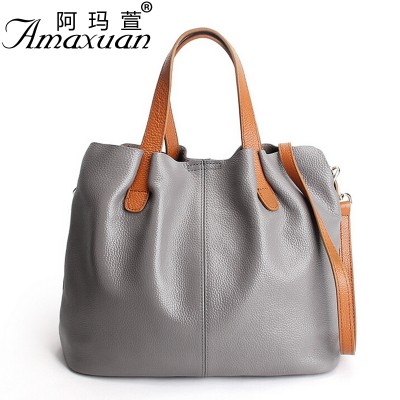 2019 Women Genuine leather handbag fashion crossbody bags for women tote solid color female simple women messenger bag BH1364