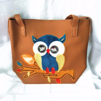 M027 Cute Character Fashion Hit Color Cartoon Printing Owl  Shoulder  Bag Big Size Women Gift Wholesale