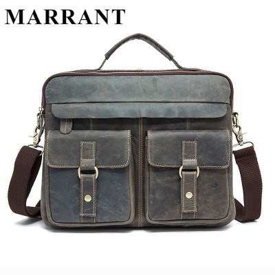 MARRANT Genuine Leather Men Bags Crazy Horse Leather Male Bag Men's Briefcase Shoulder Bags Man Messenger Cross Body Handbags