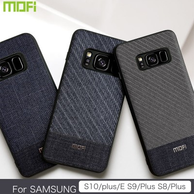 Mofi Case For Samsung Galaxy S8 S9 S10 Case For Samsung Galaxy S8 plus S9 plus S10 plus Case Cover Fabric Phone Case For Samsung Business Style Handcraft Gentleman Case Cover