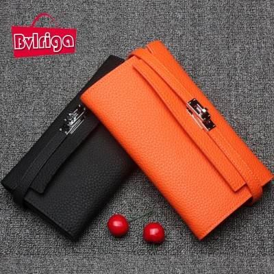 BVLRIGA 100% genuine leather wallet dollar price luxury purses women wallets designer high quality card holder brand clutch bag