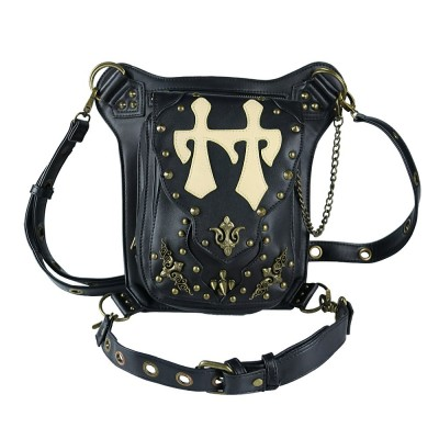 Versatile Steampunk Messenger Bags Vintage Rivet And Thread Design Retro Waist Bag Men Women Crossbody Shoulder Phone Bags
