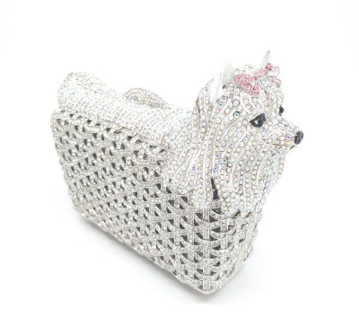 Gift Box Pack Bolsas de Noche Women Minaudiere Handbag Hollow Out Animal Evening Bags Wedding Party Socialite Crystal Dog Clutch