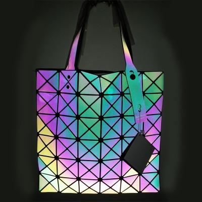 Fashion Women BAOBAO Bags Geometry Package Luminous Sequins Mirror Saser Plain Folding bags women famous brands Shopping Bags