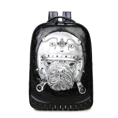 2019 3D Leather Animal Men Backpack Gothic Steampunk Unique backpack cool bag steampunk fashion Rivets Backpack Bag for Teenage Fashion Travel Laptop Bags