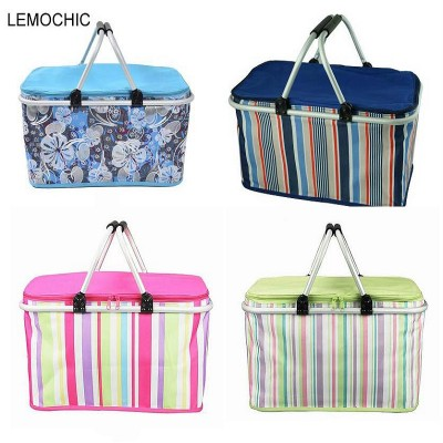 Super large 32L 1680D Oxford neveras portatiles camping picnic bag set Waterproof picnic basket Insulated lunch cooler box