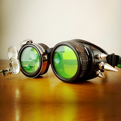Original Green Steampunk Goggles Sunglasses Steampunk Props Cosplay Props Bar for sale Vintage