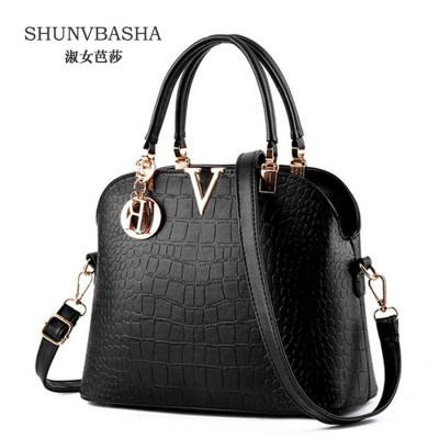 Women handbags Famous brand designer Luxury leather handbags women messenger bag Ladies crocodile pattern Shoulder bag Bolsa