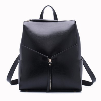 women black leather backpack female fashion office bag ladies work bags stylish backpacks for teenage girls mochilas femininas