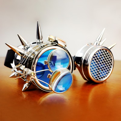 Original Blue Steampunk Goggles Sunglasses Steampunk Props Cosplay Props Bar for sale