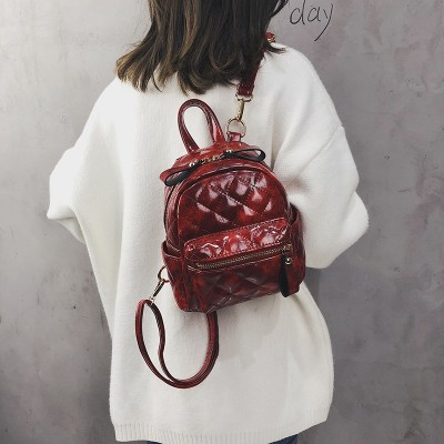 Womens Fashion Casual Cute MINI Backpack PU Leather Female backpack for teenage girls school bag solid mini Small backpack