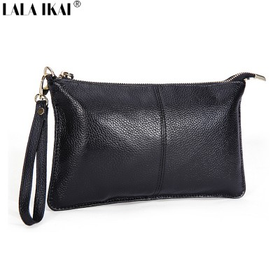 LALA IKAI  Women Leather Clutch Bags Ladies Handbags Wristlets 2019 Purse Handbag Ladies Messenger Bags Bolsas Femininas BWB161
