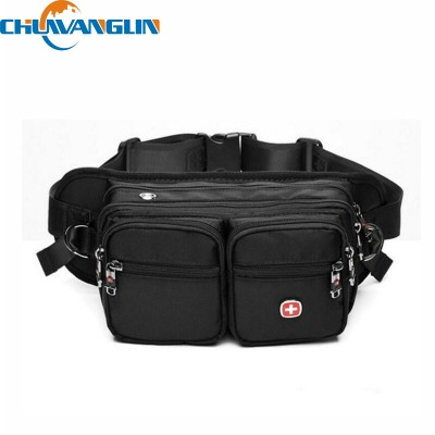 E528 Hot oxford Waist Pack Men A caminhada Bag Multifunctional Al aire libre Waterproof Travel Belt Bag Security Money Pouch