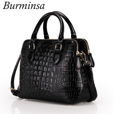 Sexy Bags Brand Crocodile Pattern Genuine Leather Bags Russian Ladies Sexy Tote Bags Designer Handbags High Quality Cossbody Bags