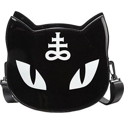 Gothic Pentagram Occult Illuminati Dark Black Punk Cat Messenger Bag Handbag Harajuku