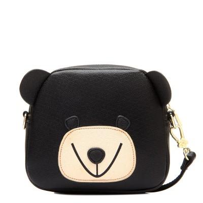 Fashion Women Messenger Bags Mini Shoulder Bag High Quality Soft Pu Leather Crossbody Bag Women Printing Bear Bag