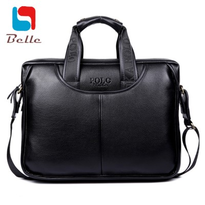 Mens Business Briefcase high quality shoulder bag vintage men messenger bags men leather handbags famous brand laptop