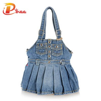 Vintage Denim Shoulder Handbags Fashion Designers Handbags High Quality 2019 Womens Bags Casual Woman Shoulder Bag Denim Jean Bag Hobo Purse