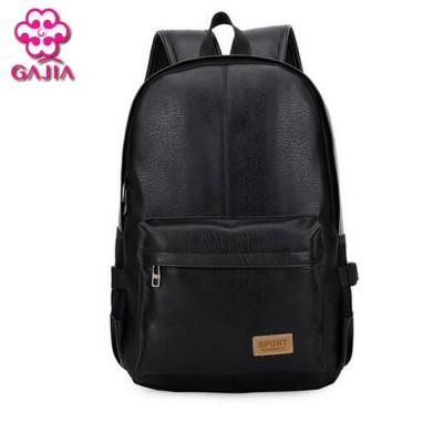 European and American style Solid high quality leather men backpack  shoulder bag Schoolbag computer Travel bag women backpack