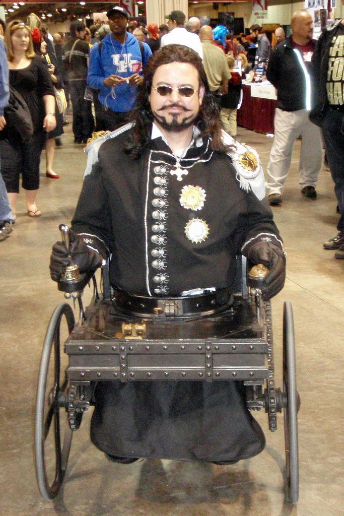 what is Steampunk:arliss-loveless-character-in-steampunk-wheelchair-costume-from-the-1999-film-wild-wild-west