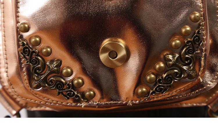 SteelMaster Steampunk Messenger Bag Small Waist Belt Bag Women Men Gothic Steampunk Style Fashion Fanny Pack Shoulder Leg Bag Holster Bag