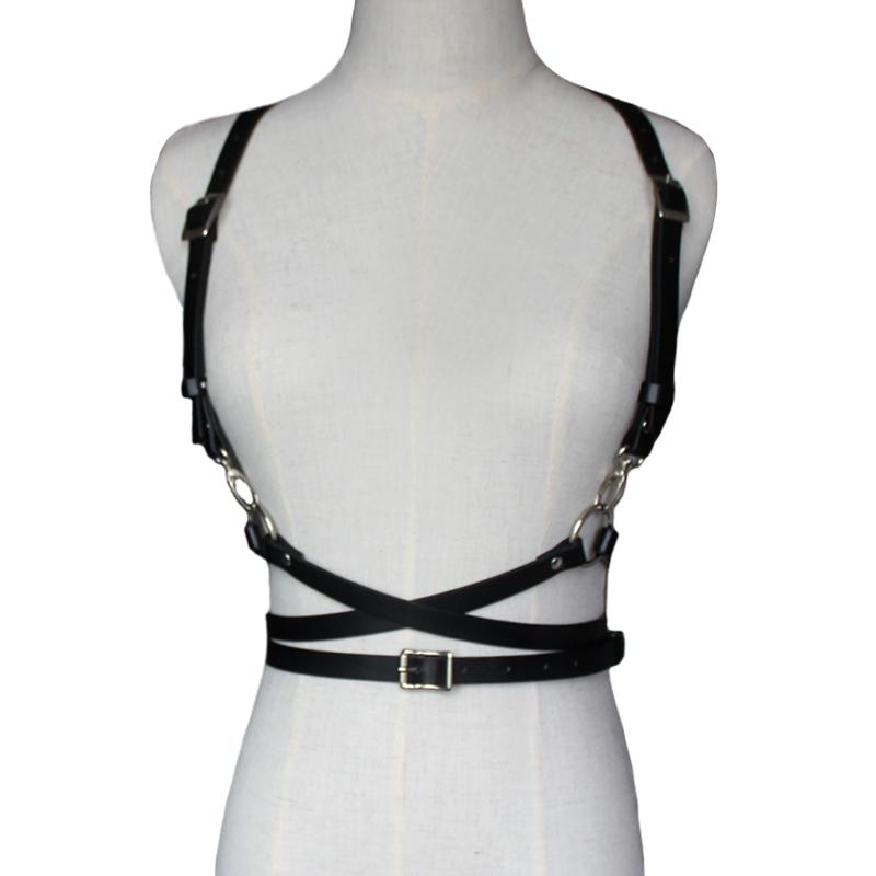 Steampunk Belt /& Suspenders Brown Harness Punk Cosplay Costume Fashion Men Women