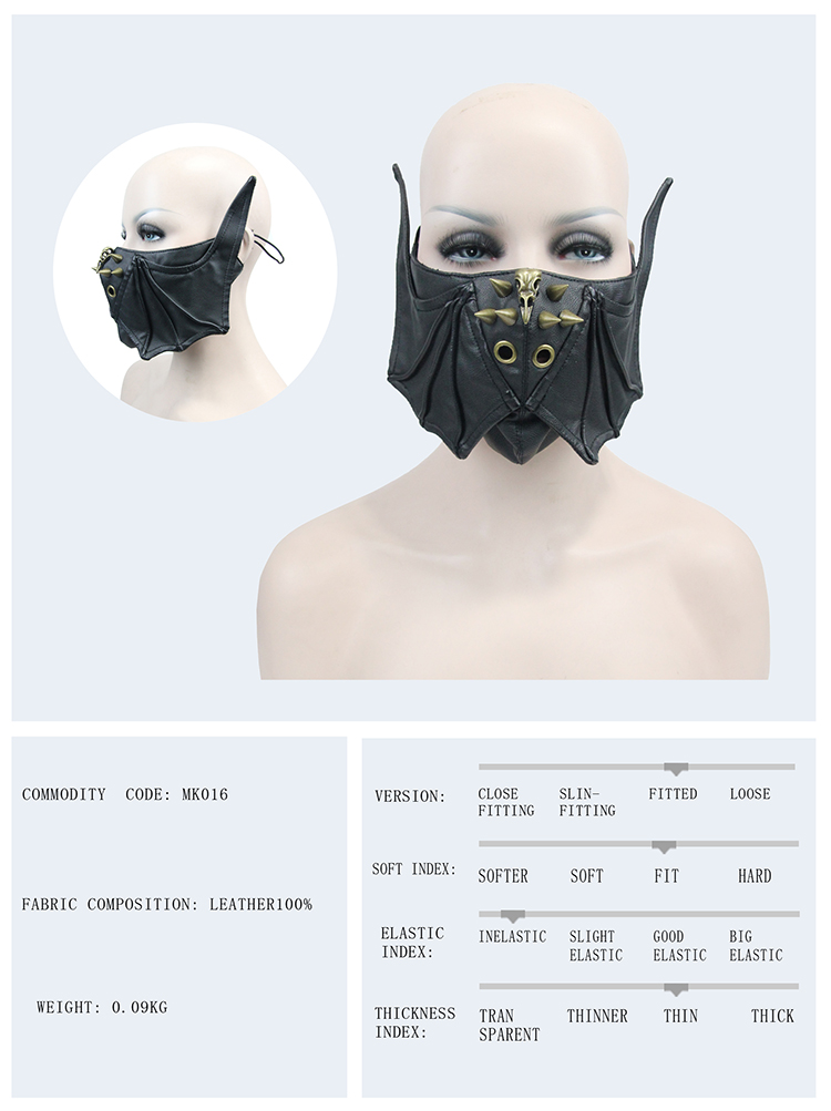 Custom Steampunk Leather Hard Face Mask for Motorcycle Riding Steampunk Masquerade Mask Steampunk Batman Mouth Mask Bike Riding Mask