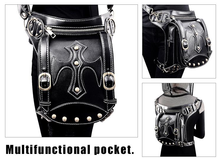 Original Bag Steampunk Thigh Waist Belt Bag Vintage Leather Steampunk Shoulder Crossbody Multifunctional Bag Backpack