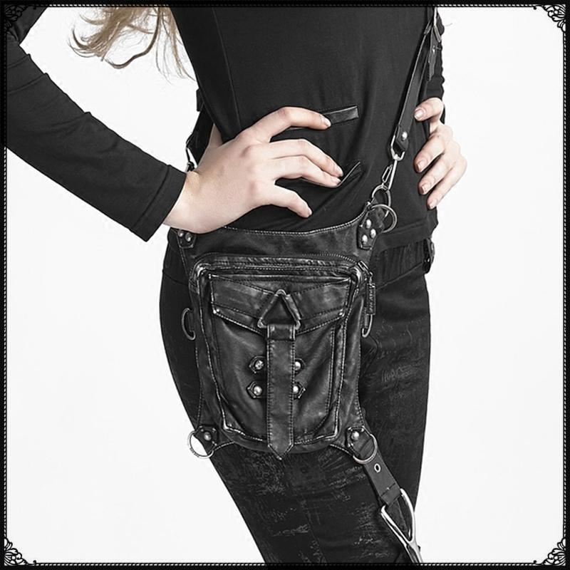 Best Motorcycle Leg Bag Steampunk Thigh Waist Belt Bag Black Small Motorcycle Bag Steampunk Shoulder Crossbody Multifunctional Bag