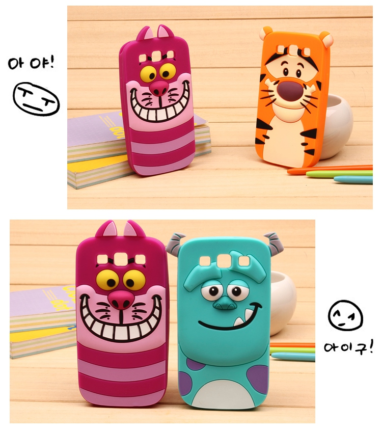 Cat Phone Case Cat 3D Cartoon Soft Silicone Case for Samsung Cartoon Phone Cases Personalised Phone Case Funny Phone Cases Cute Phone Cases Cat Case