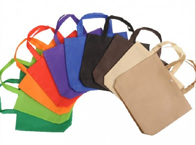 2019 Wholesale 500pcslot 3 Sizes10 Colors Custom Printing logo Recycle Non Woven Shopping Bags with Snap