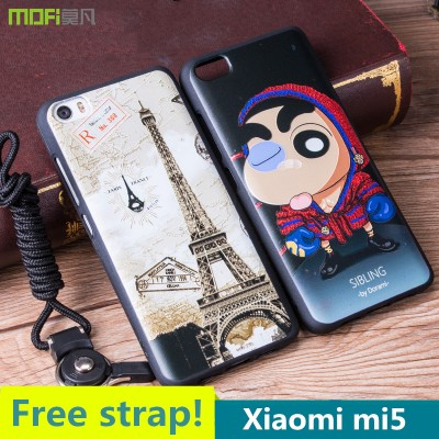 Xiaomi mi5 case pro prime MOFi original Xiaomi mi5 pro case back cover cartoon cute relief totem colours capa coque funda xiomi