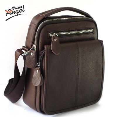 Genuine Leather Men Bag Cowhide Shoulder Fashion Men Messenger Bags Crossbody Bags Handbags Brown Men's Travel Bag 2019