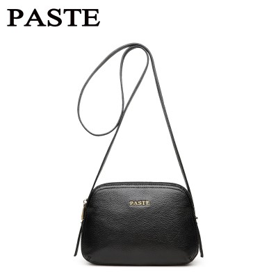 Small shell leather women's bag brand designed genuine leather women shoulder bag zipper women crossbody bag casual lady bag