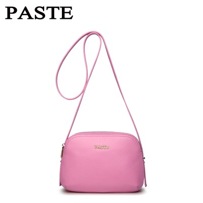 Small shell women leather bag brand designed genuine leather women shoulder bag zipper women crossbody bag casual lady bag