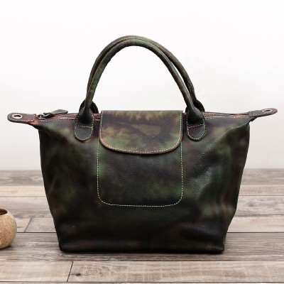 Designer Handbags High Quality Head Layer Cowhide Retro Shoulder Hand Bag Genuine Leather Vintage Totes Hobos Tote Bags Women
