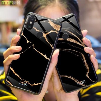 Xiaomi Mi Max 3 Case Mofi Xiaomi Mi Max 3 Case Cover Tempered Glass Phone Case for Xiaomi
