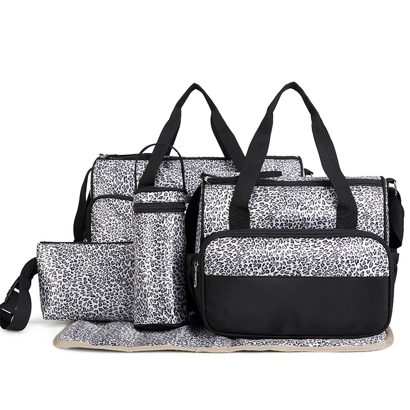a80eb5a1974b New arrival! High Quality 5PCSSet Tote Baby Shoulder Diaper Bags Durable  Nappy Bag Mummy Mother Baby nurse messager Bag