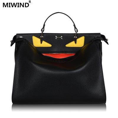 1monster bags handbags women men famous brand top-handle bag luxury designer Business laptop bag women shoulder crossbody bolsas