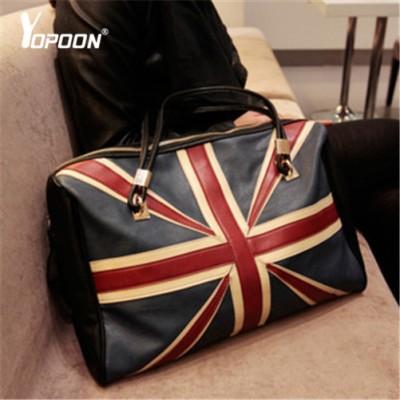 40cb6c58fec 2015 New Korean Version Of Popular Retro British Flag Tote Shoulder Bag  Purse Women Large Capacity ...
