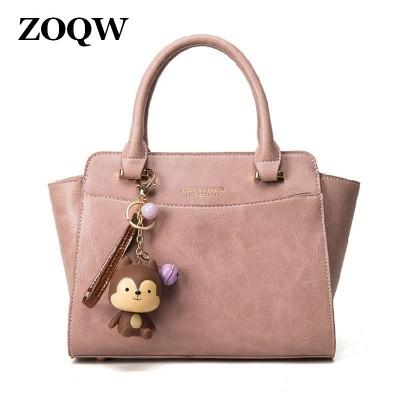 2019 Hot Sale Pink Shell Handbag Grey PU Leather Bags Women Bag Casual Crossbody Bags For Women Handbags Shoulder Bags WUJ1086