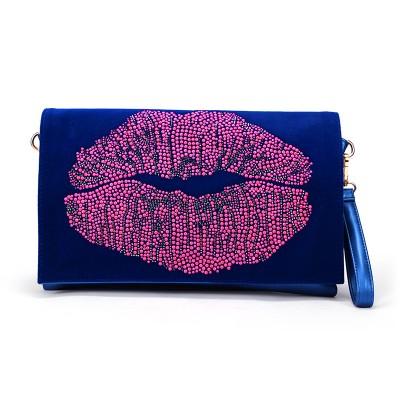Sexy Bag 2017 New Fashion Bright Brand Ladies Women Handbag Bags Sexy Lips Dots PU Day Clutches Large Clutch Envelope Messenger Bag