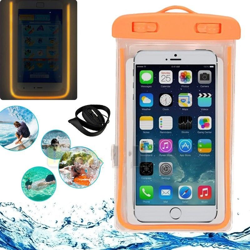 finest selection 00473 2f443 Waterproof Cell Phone Pouch Swimming Phone Case Luminous Glow Waterproof  Underwater Pouch Bag Pack Dry Case Cover For Cell Phone Under 5.7 Inch ...