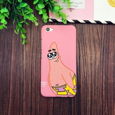Patrick Star Phone Case Spongebob Iphone 6 Case Lovely Cartoon SpongeBob Patrick Frosted PC Phone Case Cover for Apple iPhone 6 6S 6S 7 plus