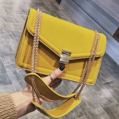 Retro Fashion Female Square Bag 2019 New High quality Matte PU leather Womens Designer Handbag Chain Shoulder Messenger bags