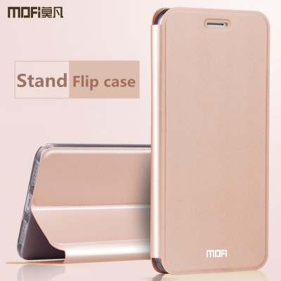 Redmi 4X case cover rose gold  xiaomi redmi 4x cover MOFi original flip case PU leather holder kickstand capa coque funda 5.0""