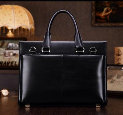 teemzone Men's 100% Genuine Leather High End Business Briefcase Messenger Laptop Case Attache Bag Brown  Attache Portfolio T0650